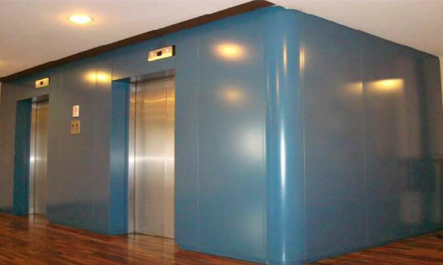 lift elevator refurb film vinyl before